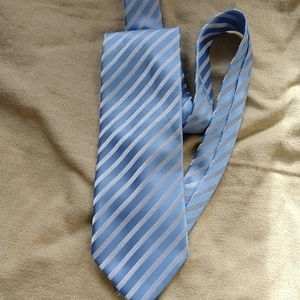 Dolce & Gabbana 100% Silk Blue & white Striped Tie